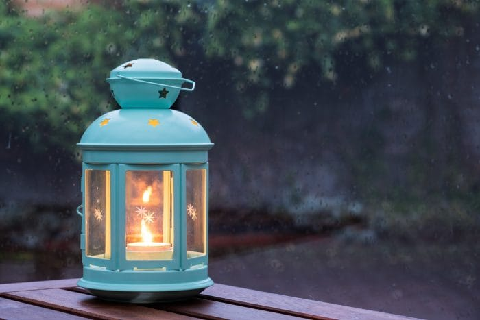 patio lighting ideas lantern