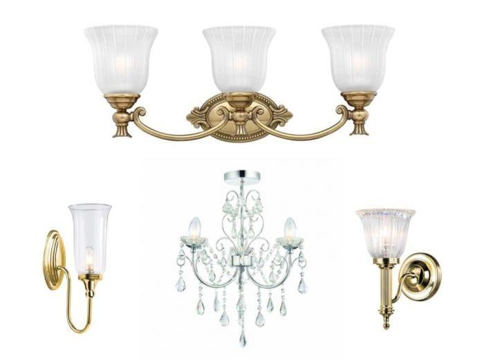 traditional bathroom lighting ornate