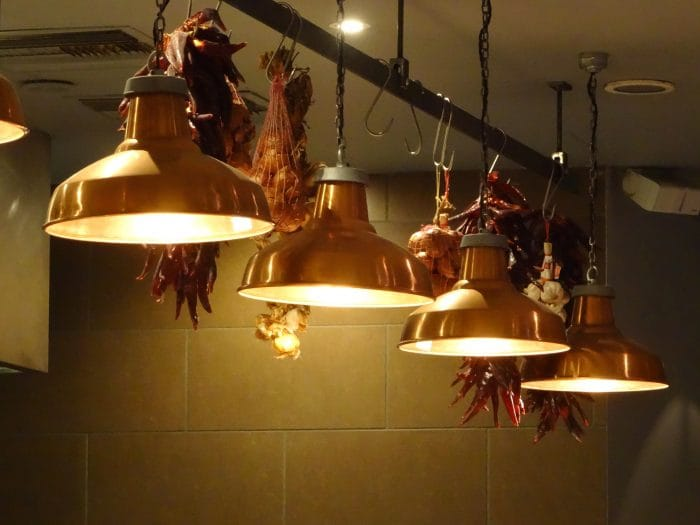 kitchen lighting ideas copper lights