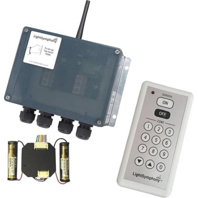 Light Symphony Remote Control 2 Channel Starter Kit (with 9 zone remote and wall switch)