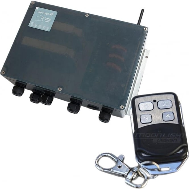 Light Symphony Remote Control 4 Channel Starter Kit (with 4 zone key fob)