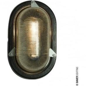 7001 Oval Aluminium Bulkhead, painted Black