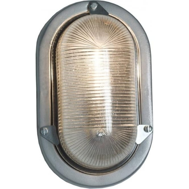Davey Lighting 7001 Oval Aluminium Bulkhead, painted Silver