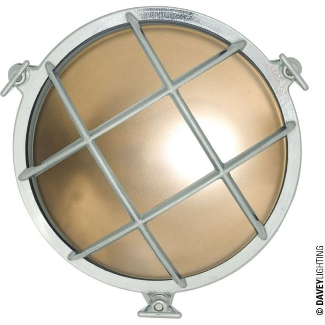Davey Lighting 7027 Brass Bulkhead with internal fixing (Diameter 215mm) Chrome plated