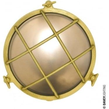 7027 Brass Bulkhead with internal fixing (Diameter 215mm) Polished Brass