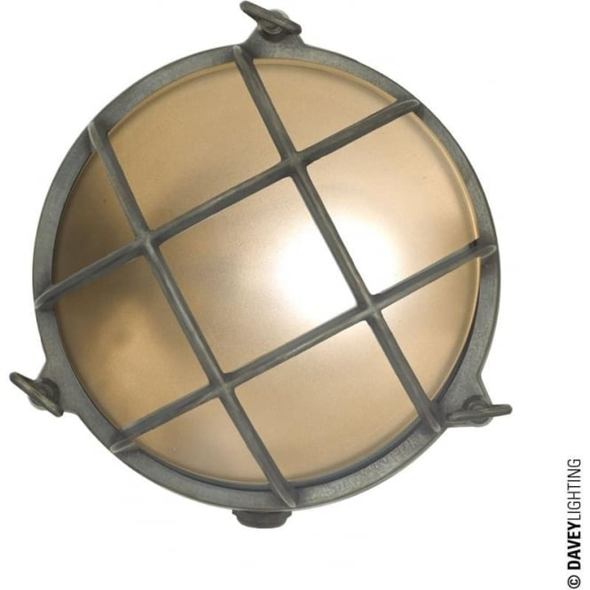 Davey Lighting 7027 Brass Bulkhead with internal fixing (Diameter 215mm) Weathered Brass