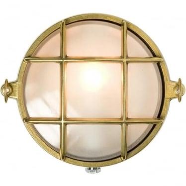 7028/M Yacht brass Bulkhead (Diameter 185mm) Polished Brass