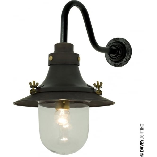 Davey Lighting 7125 Ship's small decklight, Weathered Copper, Clear Glass