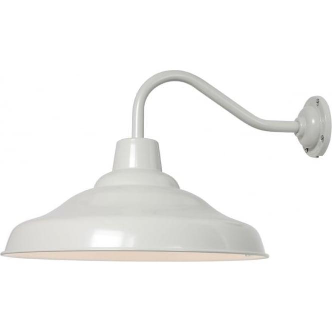 Davey Lighting 7200 School Wall Light, Painted Putty Grey, White interior
