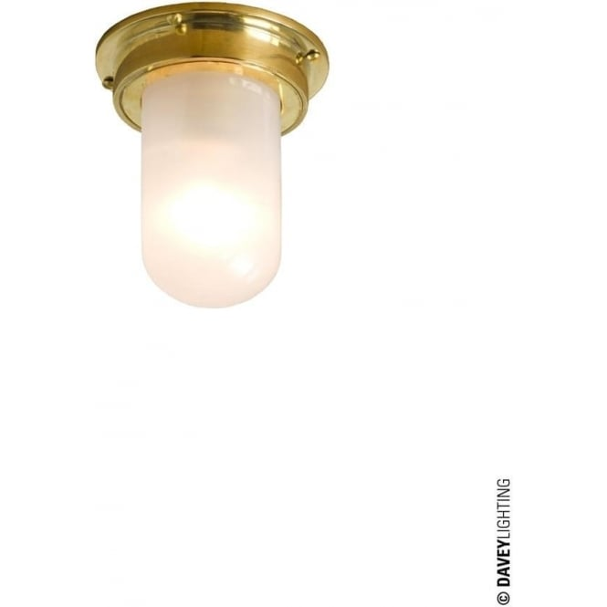 Davey Lighting 7202 ship's campanionway, Miniature, polished brass, frosted glass