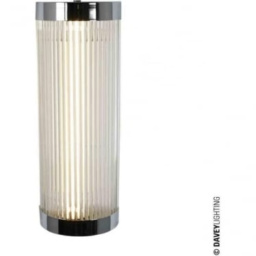 7210 Pillar Fluorescent Wall Light, Chrome Plated