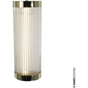 7210 Pillar Fluorescent Wall Light, Polished Brass