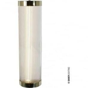 7210 Pillar LED Wall Light, Polished Brass, Large