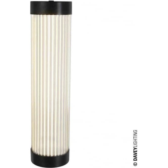 Davey Lighting 7211 Pillar Wall Light, Narrow, Weathered Brass IP44
