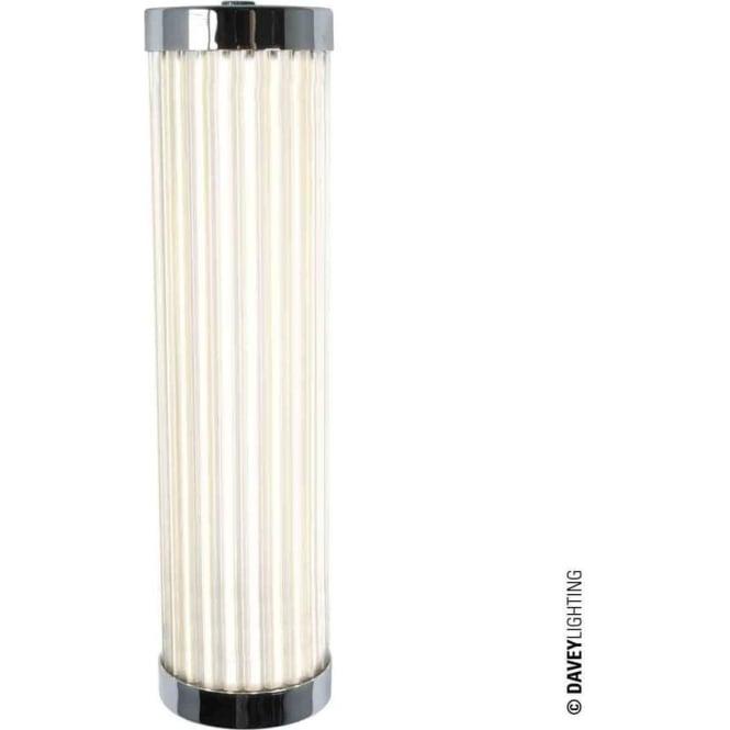 Davey Lighting 7212 Pillar LED Wall Light, Chrome Plated, 27cm