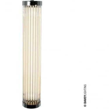 7212 Pillar LED Wall Light, Chrome Plated, 40cm