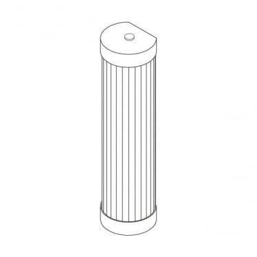 7212 Pillar LED Wall Light, Polished Brass, 27cm