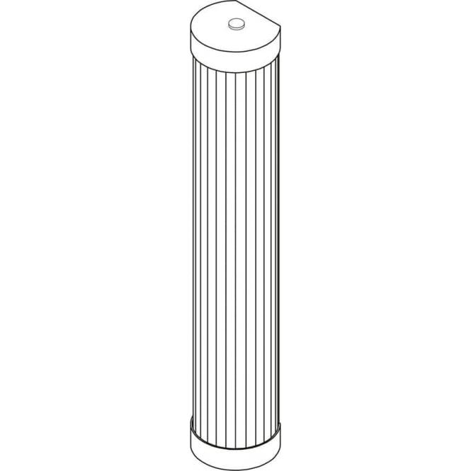 Davey Lighting 7212 Pillar LED Wall Light, Polished Brass, 40cm