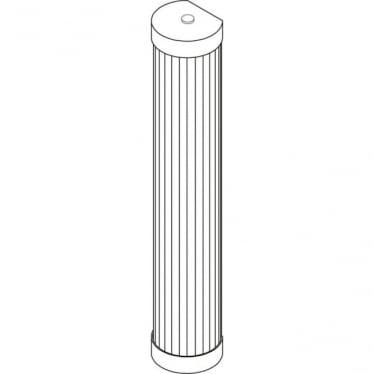 7212 Pillar LED Wall Light, Polished Brass, 40cm