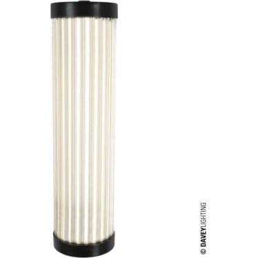 7212 Pillar LED Wall Light, Weathered Brass, 27cm