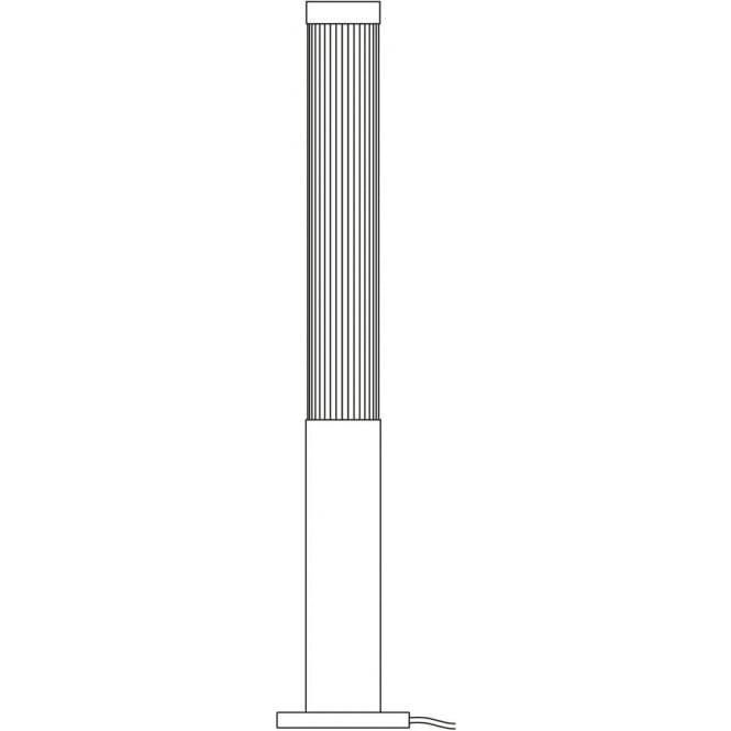 Davey Lighting 7215 Pillar Floor Light, Weathered Brass