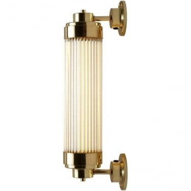 7216 Pillar Offset LED Wall Light, Polished Brass