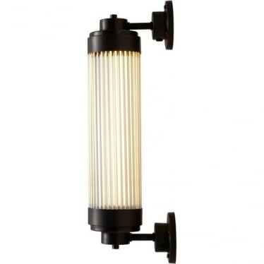 7216 Pillar Offset LED Wall Light, Weathered Brass