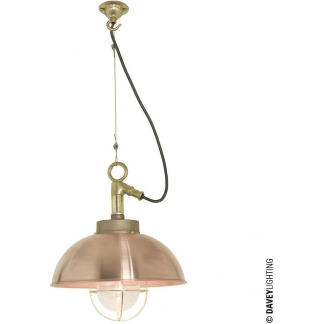 Davey Lighting 7222 Shipyard Pendant, Copper, Clear