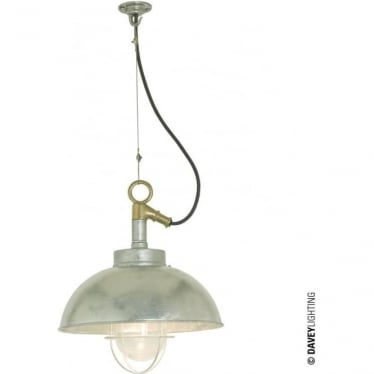 7222 Shipyard Pendant, Galvanised, Clear