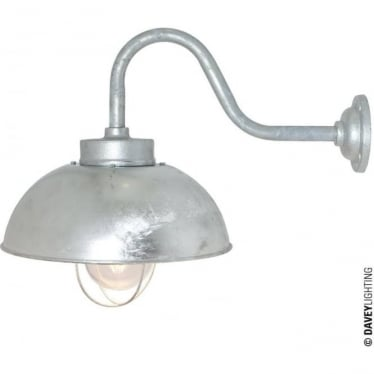 7222 Shipyard Wall Light, Galvanised, Clear