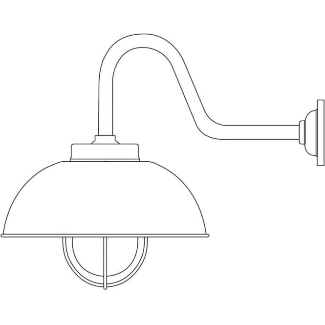 Davey Lighting 7222 Shipyard Wall Light, Galvanised, Frosted