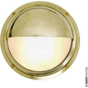 7225 Brass Bulkhead with Eyelid Shield, Polished Brass