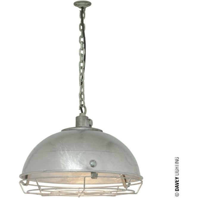 Davey Lighting 7238 Steel Working Light With Protective Guard, Galvanised, IP44