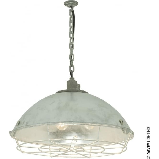 Davey Lighting 7242 Cargo Cluster Light With Protective Guard, 6xBC, Galvanised