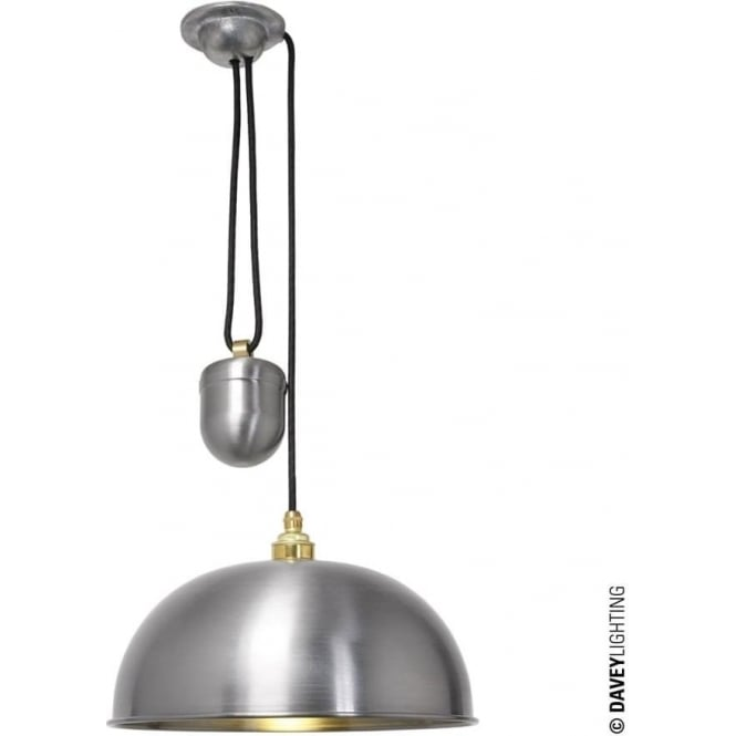 Davey Lighting 7300 Davey Lighting Dome Rise & Fall Pendant - Steel Lacquered