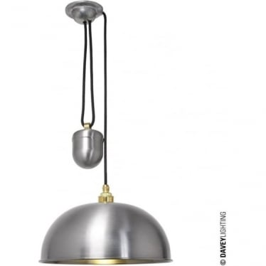 7300 Davey Lighting Dome Rise & Fall Pendant - Steel Lacquered