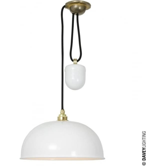 Davey Lighting 7300 Davey Lighting Dome Rise & Fall Pendant - White
