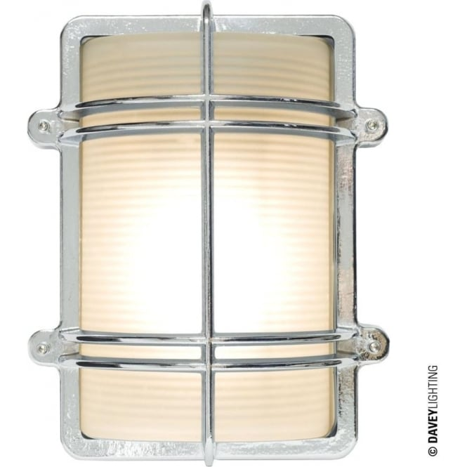 Davey Lighting 7373 Rectangular Bulkhead, Chrome Plated