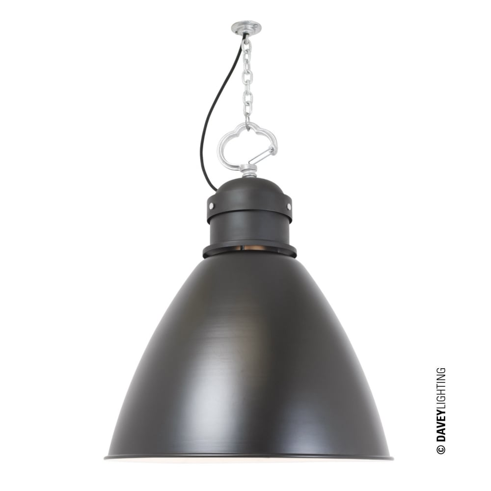 davey lighting 7380 pendant large black davey lighting