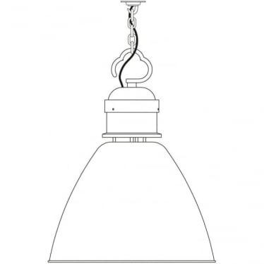 7380 Pendant, Large, Light Grey