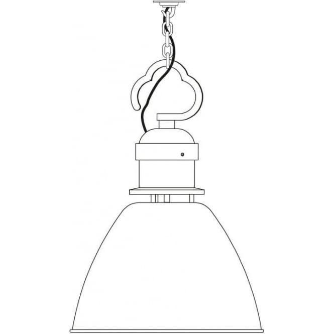 Davey Lighting 7380 Pendant, Small, Light Grey