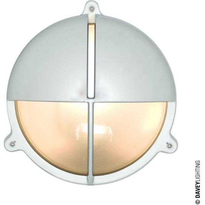 Davey Lighting 7427 Brass Bulkhead with Eyelid Shield, Chrome Plated, Large