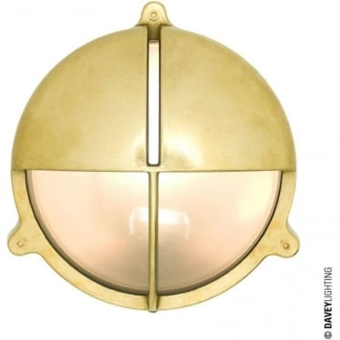 7427 Brass Bulkhead with Eyelid Shield, Natural Brass, Large