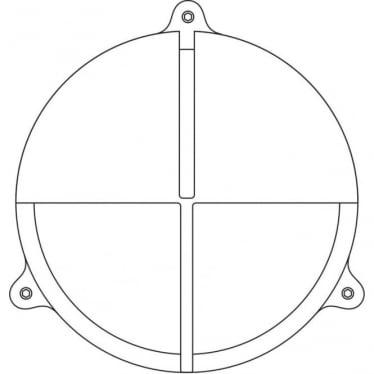 7427 Brass Bulkhead with Eyelid Shield, Weathered Brass, Large