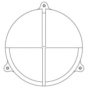 7428 Brass Bulkhead with Eyelid Shield, Weathered Brass