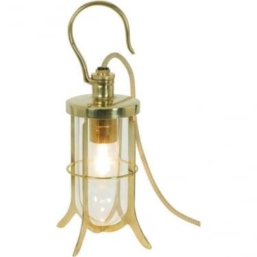 7521 Ship's Hook Light, Polished Brass, Clear Glass