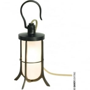 7521 Ship's Hook Light, Weathered Brass, Frosted Glass