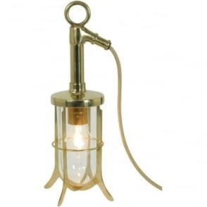 7523 Ship's Well Glass Light, Polished Brass, Clear Glass
