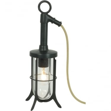 7523 Ship's Well Glass Light, Weathered Brass, Clear Glass