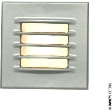 7600 Recessed Step Light, Low Voltage, Painted Silver, IP20